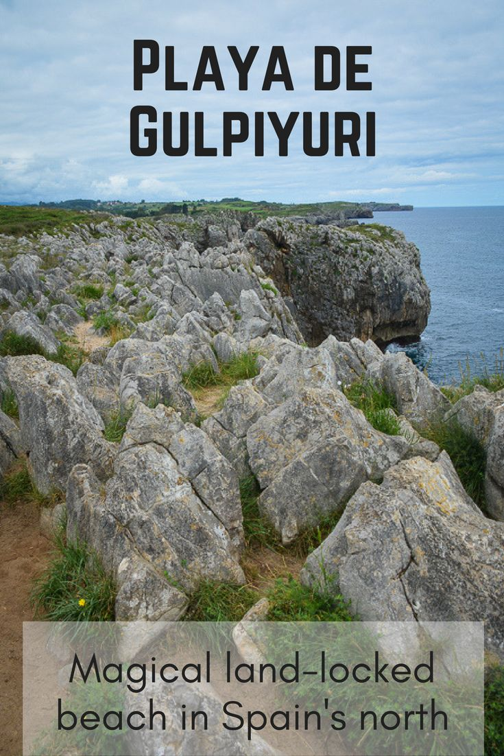 Playa de Gulpiyuri in Spain's north is our magical beach. A land-locked beach surrounded by fields and pastured. A sinkhole that is flooded by the nearby sea. (scheduled via http://www.tailwindapp.com?utm_source=pinterest&utm_medium=twpin)