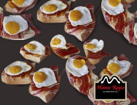Mini aperitivo para tod@s: Huevo de codorniz y jamón ibérico #MonteRegio ¡que bueno!