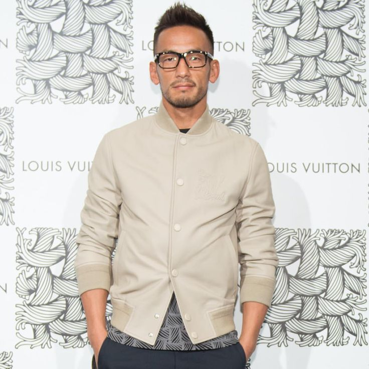 Hidetoshi Nakata wearing #LouisVuitton #LVFall 2015 by @mrkimjones at the #LVNemeth pop-up store opening at @isetanmens #LVネメス