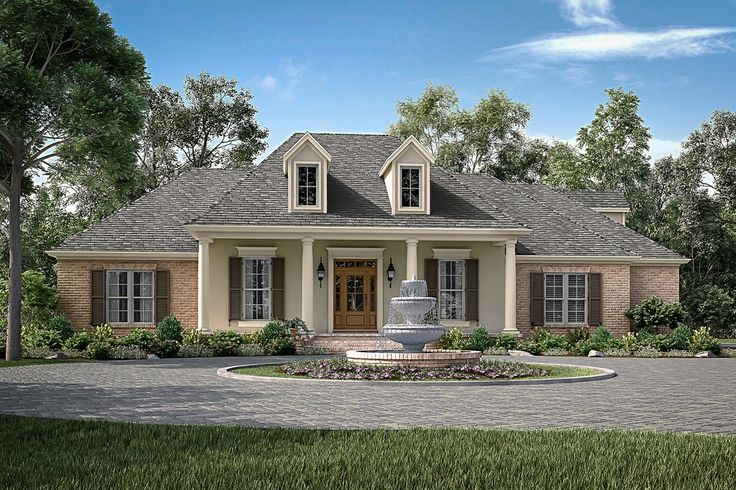 25 best ideas about french country exterior on pinterest for Acadian country house plans
