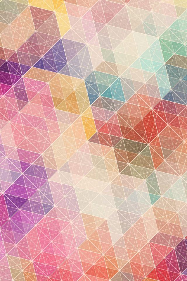 カラフル・トライアングルのスマホ用壁紙(Android用/960×640) | WallpaperBox