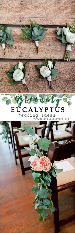 Grün Eukalyptus rustikale Hochzeit Dekor Ideen # grün # Hochzeit # Hochzeit