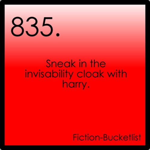HP Challenge Day 27 - which of the Hallows would you rather have -invisibility cloak! Who wouldn't want to be able to go places without being seen?