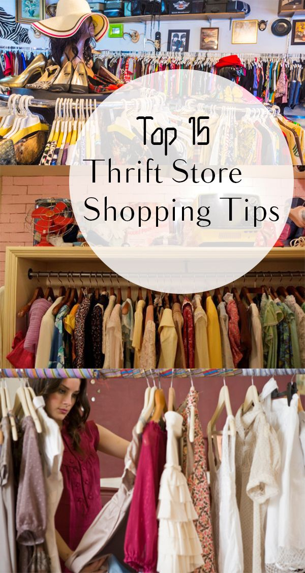 Top 15 Thrift Store Shopping Tips