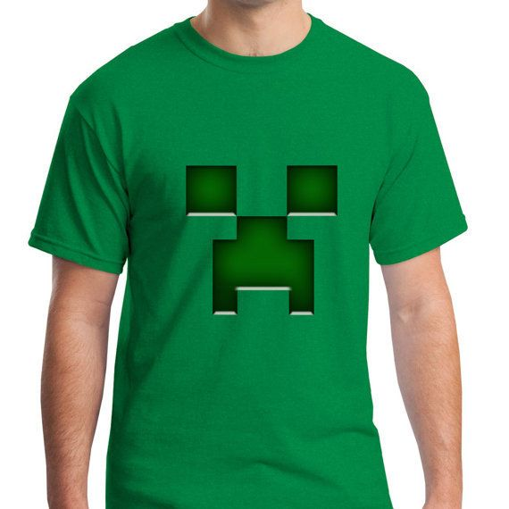 Green Minecraft Creeper Game for men t from NewGalaxy on Etsy