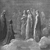 """Piccarda Donati- Pd. III, 46-49[ I' fui nel mondo vergine sorella (suora); e se la mente tua ben sé riguarda, non mi ti celerà l'esser più bella(luminosa), ma riconoscerai ch'i' son Piccarda.  ] Figlia di Simone Donati, Piccarda è sorella diForese (Pg.), l'amico di gioventù del poeta, e di Corso (""""quei che più n'ha colpa""""Pg. XXIV, 82-87), il violento capo della parte Nera fiorentina, nonchè cugina della moglie di Dante, Gemma Donati. La famiglia Donati appartiene, dunque, alla sfera…"""