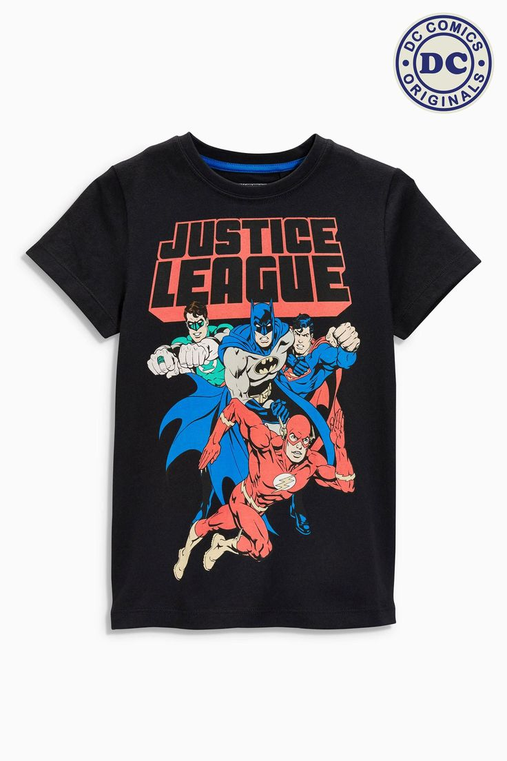 Buy Black Justice League T-Shirt (3-16yrs) from the Next UK online shop