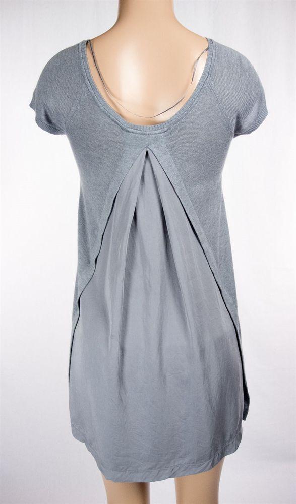 LULULEMON Split Back Sweater Size M Gray Short Sleeve Lightweight Knit Tunic #Lululemon #ShirtsTops