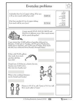 math worksheet : 62 best math images on pinterest  teaching ideas teaching math  : Adding And Subtracting Decimals Word Problems Worksheets