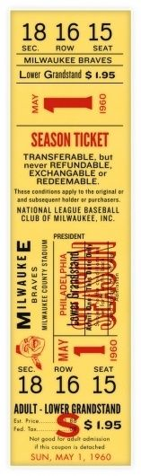 Eephus League Magazine #baseball #ticket #typography