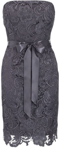 Adrianna Papell Lace Sheath Dress in Gray ( charcoal) - Lyst
