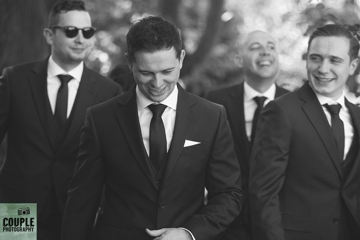 The groomsmen head to the church. Weddings at Druids Glen Hotel by Couple Photography.