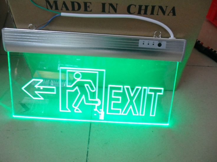 9 Best Fire Exit Sign Images On Pinterest Exit Sign