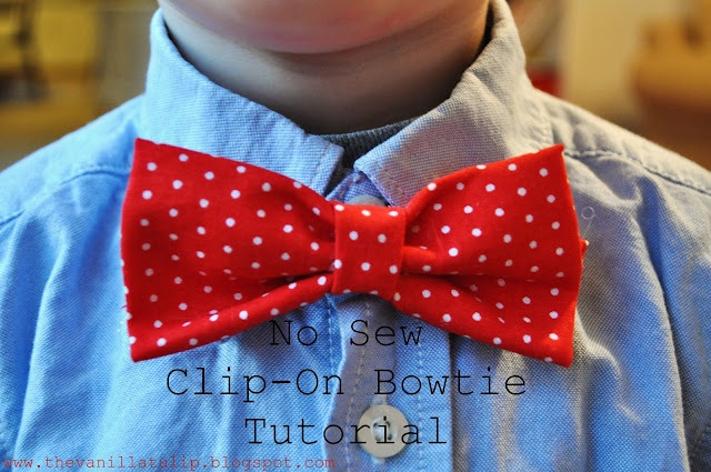 no sew bowtie- I'm going to use this for the puppy's collar during the holiday's dog collar bow tie