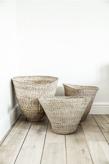 A cute little cluster of baskets. Visit www.hardtofind.com.au to shop similar #storage #gift #tidy