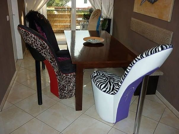 22 Best Zebra Print High Heel Chair Images On Pinterest