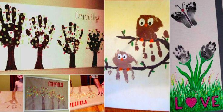 20 idées de peintures avec les mains et les pieds pour vos enfants ! - Des idées