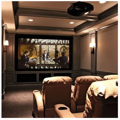 Comfortable Dark Colors For The Basement Room By Design