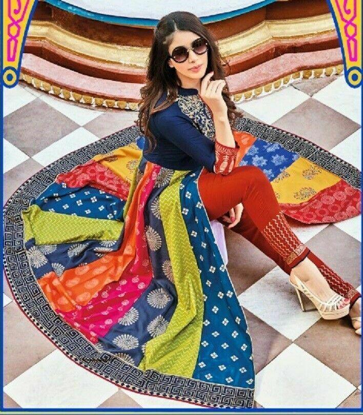 Indian Women Kurta Kurti with Bottom Pant Palazzo Dress Set Ethnic Top Tunic New