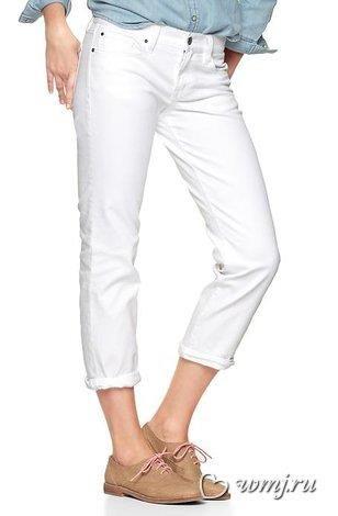 Белые узкие джинсы gap