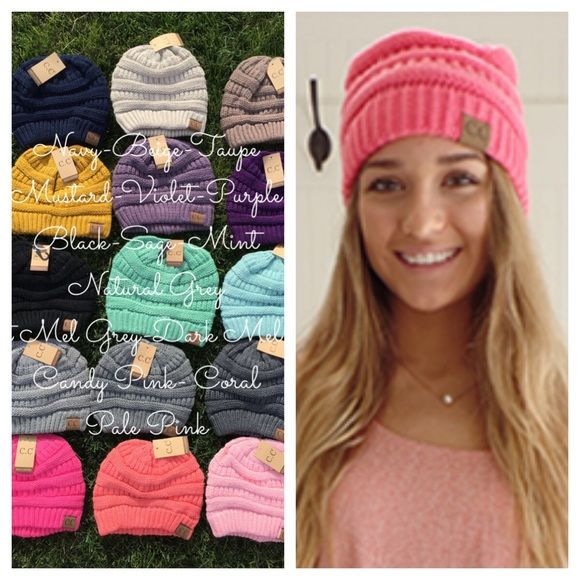 CC Beanie, Beanie Hats, Winter Beanies, C C Beanie Knit CC beanies. Authentic nice soft and pretty colors C.C Beanie Accessories Hats