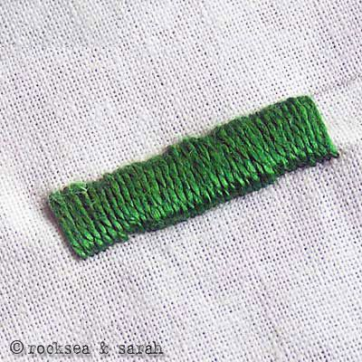 Satin stitch has a very easy procedure. What is difficult in