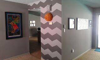 This and that: babies, projects and other mom stuff.: Chevron painted wall DIY