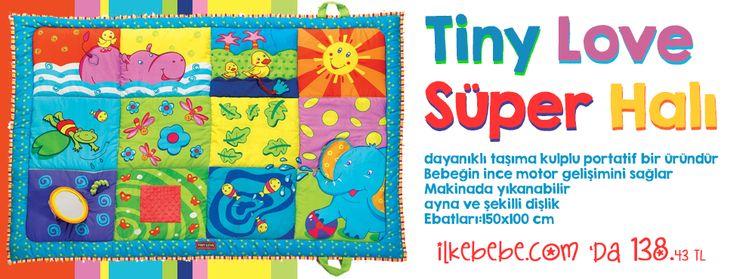 Süper Oyun Halısı ! Tiny Love Bu oyun halısı hayvan karakterleri ve ilgi çekici desene sahiptir Kolaylıkla her yerde kullanılabilir dayanıklı taşıma kulplu portatif bir üründür Bebeğin ince motor gelişimini sağlar Makinada yıkanabilir ayna ve şekilli dişlik Ebatları:150x100 cm