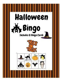 halloween picture bingo - Preschool Halloween Bingo
