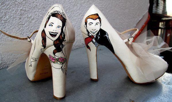 funny wedding shoses