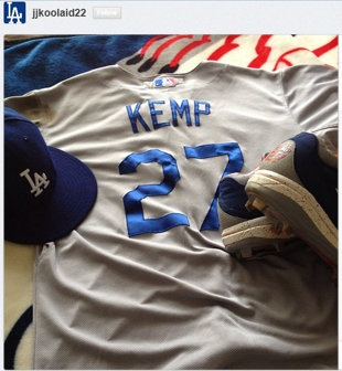 "Joshua Jones thanked Matt Kemp on Instagram with a message that read ""Thanks Matt. I will never forget that moment!!!"""