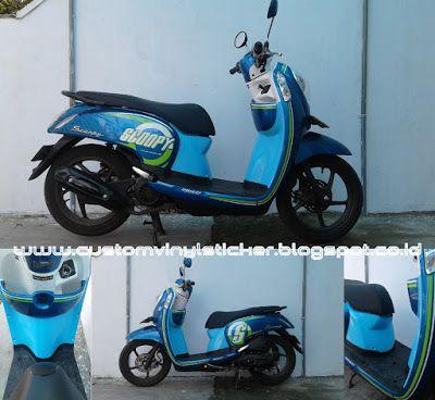 Honda Scoopy F1 Blue - Blue Leg Shield Wrapp Sticker #honda #motor #scoopy #scoopyf1 #wrapp #wrappsticker