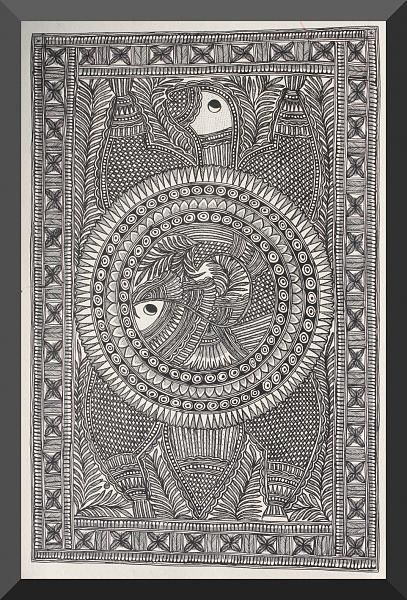 Indian Painting Styles...Madhubani/Mithila  Painting (Bihar)-fishp.jpg