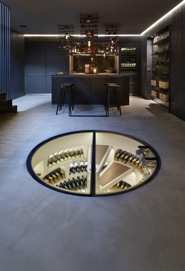 Spiral underground wine cellar