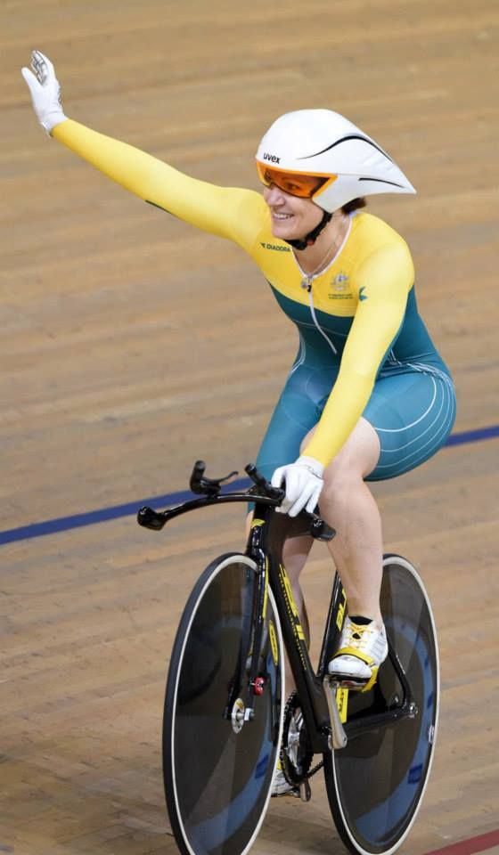 Anna Meares - Gold Medal winner of the Women's Time Trial @ The Glasgow Commonwealth Games. Vittoria Tyres supplied by GKA Sports. Photos © Andy Jones