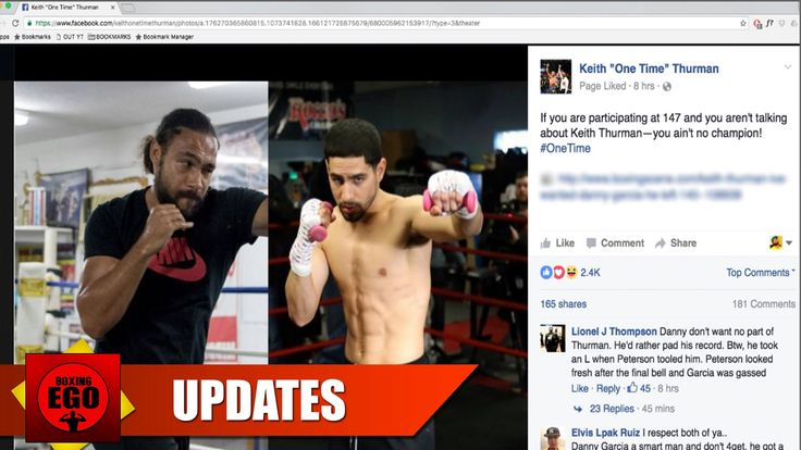 """Keith Thurman HITS Danny Garcia with Subliminal Diss """"You Ain't NO Champ..."""