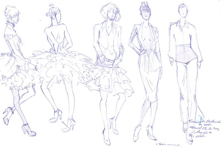 Figurines de moda lapicero I by ~MYoshira on deviantART