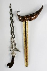 Keris, traditional weapon of Central Java