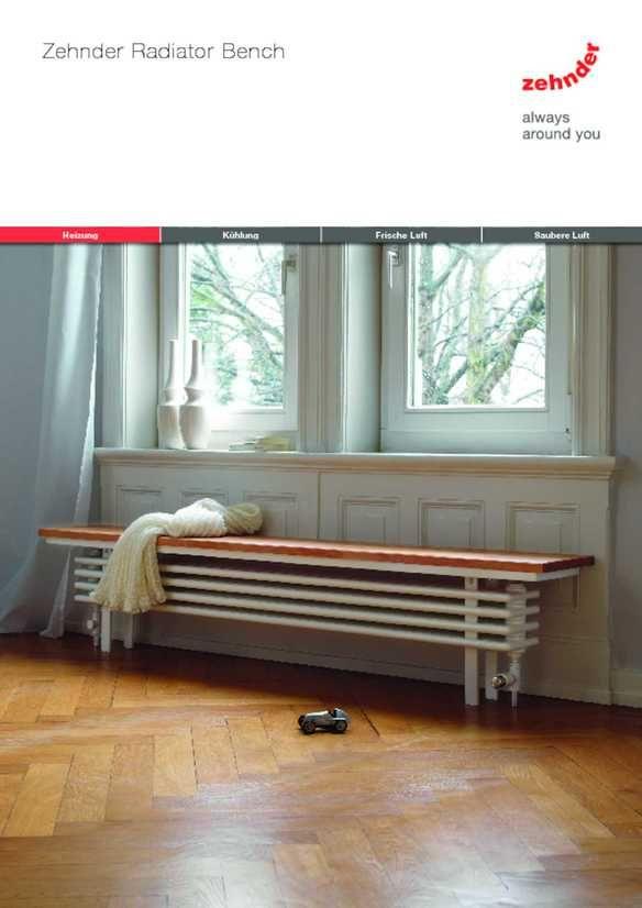 Zehnder Radiator Bench | Zehnder Group Deutschland GmbH ...