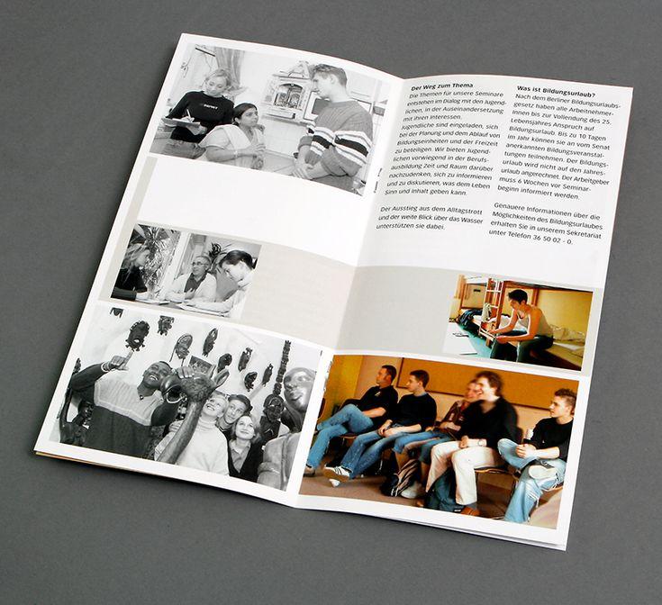 Flyer Layout DIN Lang Haus Kreisau Berlin