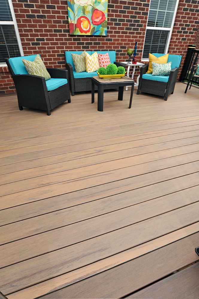 Timbertech S Legacy Collection Deck In Pecan With Eclectic