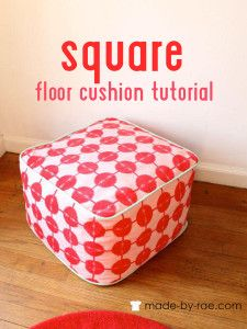 Sew this great floor cushion in no time.Easy to follow pattern instructions.Great for beginners