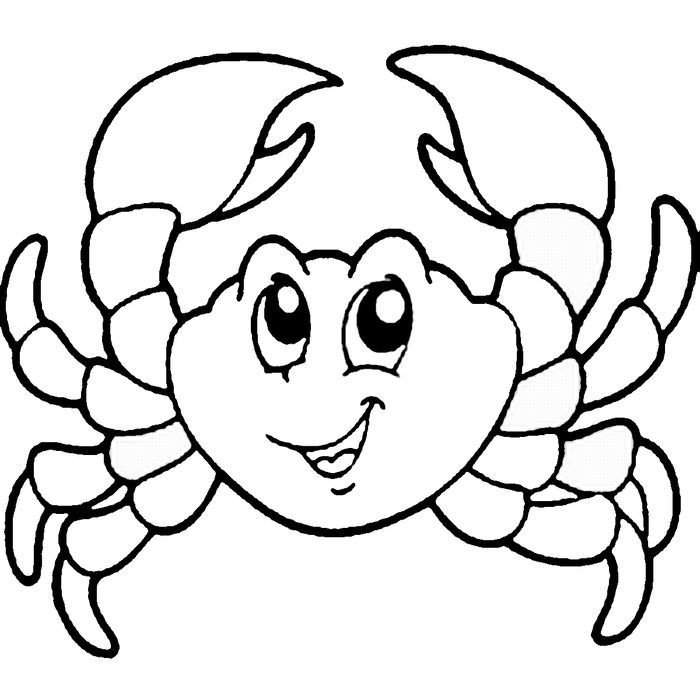Cute Crab Coloring Pages Animal Coloring Pages, Fish Coloring Page, Horse Coloring  Pages