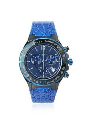 Versace Men's 28CCB8D082 S282 DV Black/Blue Tachymeter Watch