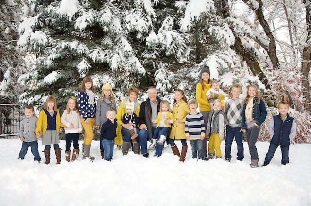 think I'm sold on the yellow, black,and gray!!!!Family pictures in the snow. Awesome colors!