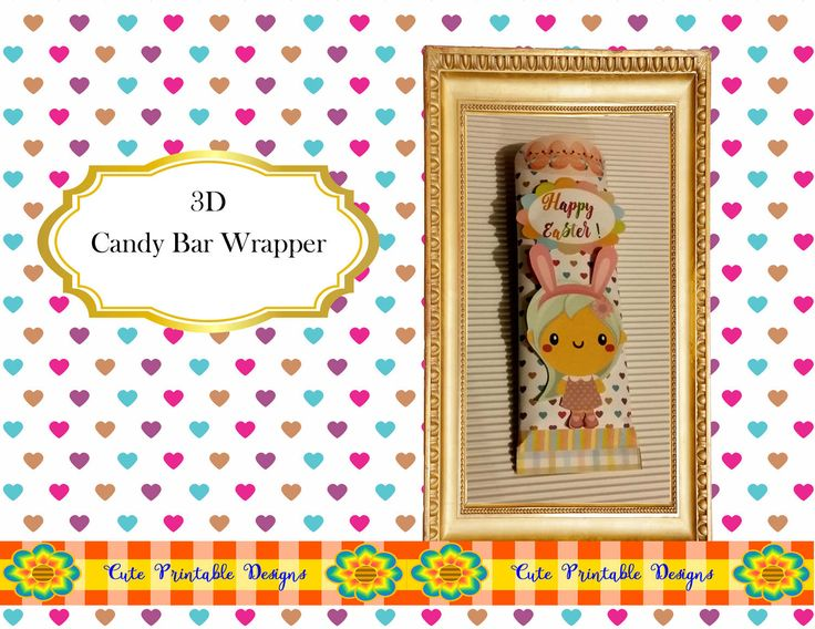 Easter,Easter Candy Bar Wrapper,Hersheys Bar Wrapper, Printable Bar Wrapper, Chocolate Bar Wrapper, Digital,Kawaii BARWRAPPERPAS-TGH-194 de CutePrintableDesigns en Etsy
