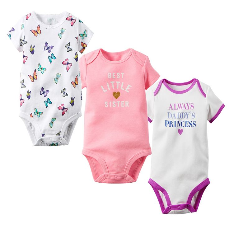 >> Click to Buy << 3pcs Fashion BODYSUIT Overall high quality suit baby clothes boy clothing set girl jumpsuit summer 2017 new  PULLOVER #Affiliate