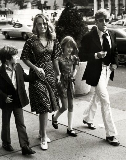 Robert Redford and family