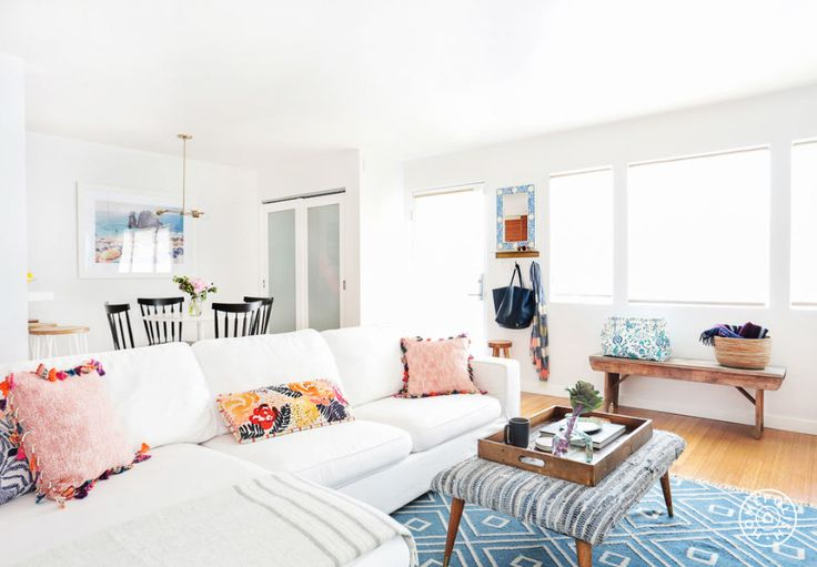 A Kid-Friendly Venice Bungalow - With a young daughter and a baby on the way, this family's second priority (after having a beautiful home design) was kid-friendly furniture and fabrics. With their designer Haley, this cute bungalow was given a stunning, pragmatic makeover. - @Homepolish Los Angeles