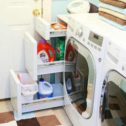 Good idea for the small space next to the washing machine ideas for my home pinterest - Washing machines for small spaces photos ...